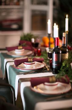 Holiday Table Setting - Have a cozy winter season!
