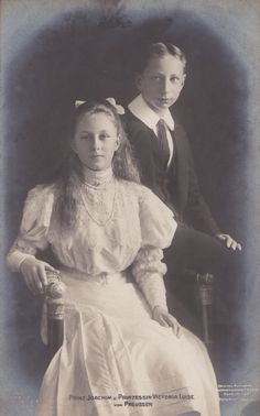 Prince Joachim and Princess Viktoria Luise of Prussia