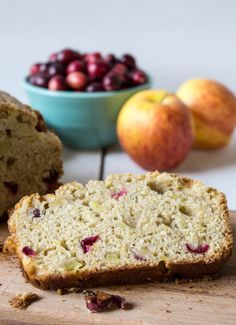 Quick and easy Cranberry Apple Bread. Fresh cranberries and chunks of apples make a delicious bread for breakfast or tea time.