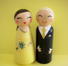 Hand Painted Love Boxes Custom Anniversary Peg Doll Portrait