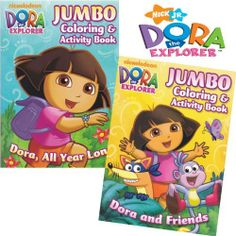 Dora The Explorer Coloring Book Set 2 Books By Nickelodeon 895