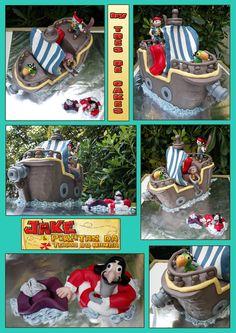 """JACK AND THE NEVERLAND PIRATES (JACK E OS PIRATAS DA TERRA DO NUNCA)  (Art in Cake by """"Três Dê Cakes"""")"""