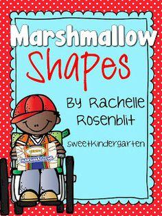 Life Is Sweet....In Kindergarten!: Marshmallow shapes! (freebie)