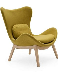 Fabric wingchair LAZY by @calligaris1923