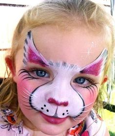 cute kitty face paint