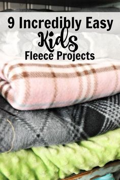 9 Incredibly Easy (Some no sew!) Sewing Projects that you can make for kids.