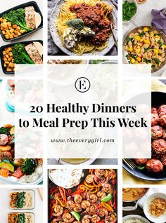 20 Healthy Dinners You Can Meal Prep on Sunday - The Everygirl Clean Eating Dinner, Clean Eating Snacks, Healthy Eating, Healthy Food, Healthy Meal Prep, Healthy Dinners, Clean Dinners, Keto Meal, Gourmet Recipes