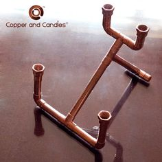 DIY Copper Candle Holder Copper Candle Holders, Copper Lamps, Beautiful Table Settings, Perfect Party, Diy Projects To Try, Metal Art, Metal Working, Tablescapes, Centerpieces