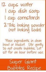 recipe for BIG bubbles