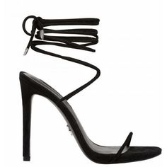 CARLISLE BLACK SUEDE ($115) ❤ liked on Polyvore featuring shoes, pumps, black court shoes, black shoes, strap pumps, suede leather shoes and strappy pumps