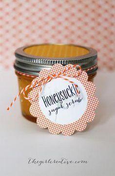 Homemade Honeysuckle Sugar Scrub Recipe | The Girl Creative #FaceCreamForWrinkles Homemade Skin Care, Homemade Beauty, Diy Beauty, Homemade Soaps, Homemade Products, Beauty Stuff, Beauty Ideas, Beauty Tips, Sugar Scrub Recipe