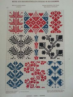 * etnobiblioteca *: motifs of house-industrial embroidery in Bukovina. K … – knitting charts Palestinian Embroidery, Hungarian Embroidery, Folk Embroidery, Cross Stitch Embroidery, Embroidery Patterns, Cross Stitch Geometric, Cross Stitch Borders, Cross Stitching, Cross Stitch Patterns