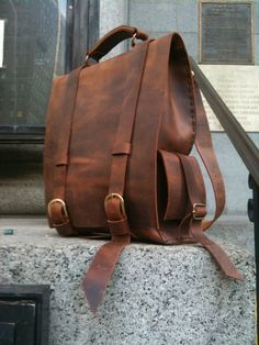 Lovely leather back pack