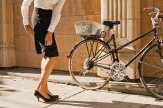 Women's Bike Fashion via Brit + Co.