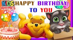#HappyBirthday To You #Children Cartoon Animation #Song by Kids Rhymes
