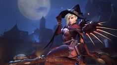 Blizzard released a new Halloween-themed seasonal update for Overwatch today. The limited-time event features a brand-new, four-player co-op mode, Junkenstein's Revenge, and a host of new character. Overwatch Halloween Skins, Bioshock, Frankenstein, Pokemon Go, Mercy Witch, Overwatch Video Game, Overwatch News, Overwatch Xbox, Overwatch Wallpapers