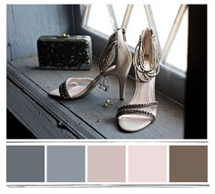 pink, grey, smoked blue and brown