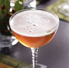CHAMPAGNE COSMO**** a Champagne twist on a Cosmopolitan - before dinner or while you enjoy the first course.