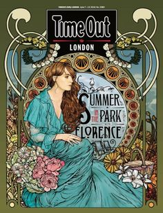 The cover of TimeOut London magazine ~ Summer in the Park with Florence ~ British Summertime festival at Hyde Park