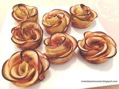 Vivendo para Comer: Rosas de maça