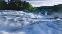 The Rhine Falls - Switzerland Tourism Rhine Falls Switzerland, Switzerland Tourism, Swiss Travel, Excursion, Train Travel, Dream Vacations, Places To See, Scenery, Around The Worlds