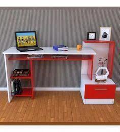 escritorio biblioteca organizador dormitorio linea moderna #homeofficecomputerdeskbookshelves Small Office Furniture, Smart Furniture, Kids Furniture, Modern Furniture, Wall Dining Table, Desk Shelves, Diy Sofa, Interior Design, Home Decor