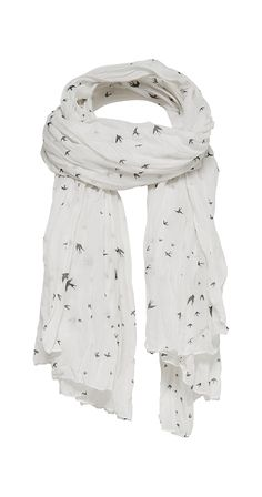Free Bird Scarf Black and white is always classic and this scarf doesn't disappoint. The lightweight crinkle fabric travels like a dream and is season-less. Add it to your own collection for gift it to a very lucky lady in your life. polyester Brand ONLY Silver Icing, Lucky Ladies, Crinkles, Best Brand, Chic Outfits, Shop Now, Comfy, Bird, Black And White