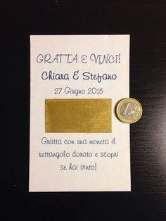 Una bella idea per il vostro matrimonio? Eccola: Gratta e Vinci fai da te, che possono essere regalati ai vostri invitati. Con poco material...