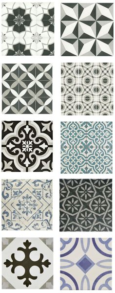 "cement-look-tile-home-depot (""porcelain and ceramic tiles that look like authentic encaustic cement tiles but for less money than you'd pay for the real thing"") ideen fliesen mozaik Cement Look Tile for Less Room Tiles, Bathroom Floor Tiles, Kitchen Tiles, Kitchen Flooring, Kitchen Colors, Bath Tiles, Flooring Tiles, Kitchen Decor, Home Depot Bathroom Tile"