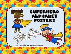 """This set includes Alphabet posters to match the Superhero Classroom Dcor Collection!Included in this set:13 letter cards (2 on each page).  Letters A  Z.26 Alphabet pictures with words to represent each letter.Print out on 8.5"""" x 11""""  white cardstock, laminate and cut in half."""