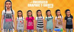 TS4 - Female Child Oversize Graphic Tees