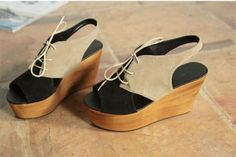 Korean Summer Nubuck Leather Platform Sandal with Strap on BuyTrends.com, only price $23.75