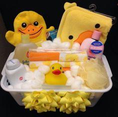 Baby Bath Gift Basket Gender Neutral 48 Trendy Id Baby Bath Gift, Bath Gift Basket, Baby Shower Gift Basket, Gift Baskets, Baby Shower Gifts, Raffle Baskets, Homemade Gifts, Diy Gifts, Regalo Baby Shower