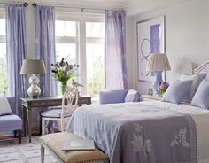 Lavender Bedroom from House Beautiful