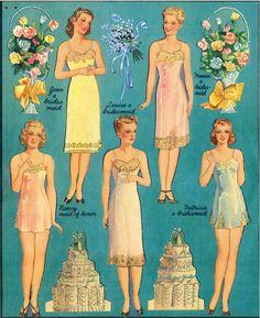 """Double Wedding"" paper dolls"