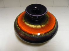 Purple/orange Hutschenreuther vase by RetroVases on Etsy