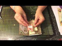 Desgin team project mini file folder journal Ephemera's Vintage Garden - YouTube.  Uses Michelle Mooney's tutorial from The Paper Addiction