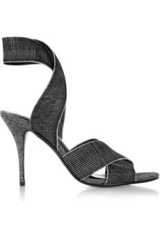 This look really comfy. Alexander Wang. Dana elasticated grosgrain sandals.    €430 NET-A-PORTER