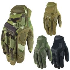Tactical Military Airsoft Shooting Paintball Bicycle Combat Full Finger Gloves //Price: $19.98 & FREE Shipping //     #explore #outdoor