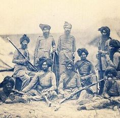 This is a stunning picture of Sikh Soldiers in British service. I guess about 1860/70