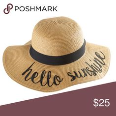 ✨JUST IN✨ Floppy Straw Sun Hat (Hello Sunshine) ✨JUST IN✨ e7b68a116930