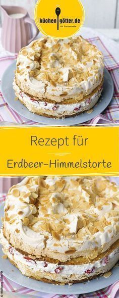 Aromatische erdbeeren in sahniger Mascarponecreme zwischen zwei Rührteigböden, die mit einer Knusperschicht aus Baiser veredelt wurden. Food Cakes, Cupcake Cakes, Baking Recipes, Cake Recipes, Dessert Recipes, Oreo Desserts, Cakes And More, Yummy Cakes, No Bake Cake