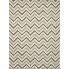 Concord Global Trading New Casa Collection Chevron Area Rug, Beige