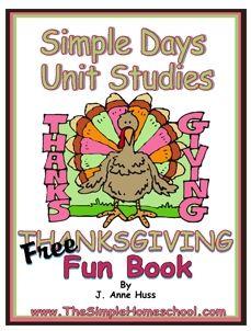 Free Thanksgiving Unit Studies