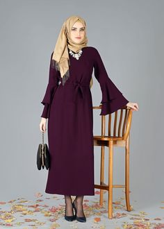 T 7901 Etika Yarasakol Elbise - BEGONVİL - Trend Tesettür