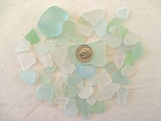 Craft Bulk Lot of 50 // PASTEL MIX // Genuine Sea Glass by GitanaDeLaPlaya, $4.99
