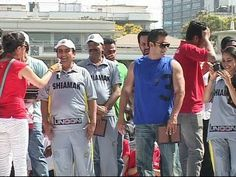 Jethalal and Daya with Salman Khan at Celebrity Charity Cricket Match.