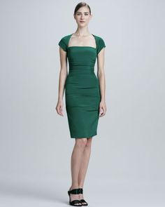 Square-Neck Cocktail Dress by Nicole Miller at Neiman Marcus.  Love this, too.