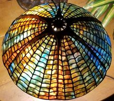 Tiffany spider shade made by joanne leary Stained Glass Lamp Shades, Glass Shades, Spider Lamp, Funky Lighting, Tiffany Lamps, Lamp Light, Glass Art, Table Lamp, Ceiling Lights