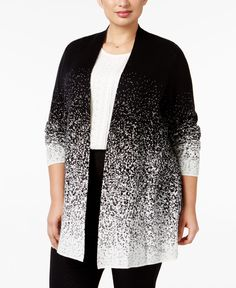 e1322ff1570 Charter Club Plus Size Ombre Duster Cardigan